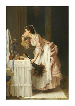 Joseph Caraud The Chamber Maid Giclee on Canvas