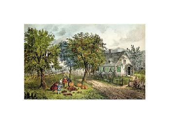 Currier and Ives American Homestead; Autumn Giclee