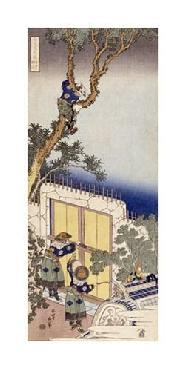 Katsushika Hokusai A Chinese Guard Unlocking The Gate Of A Frontier Barrie Giclee on Canvas
