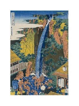 Katsushika Hokusai Roben Waterfall At Ohyama Giclee on Canvas