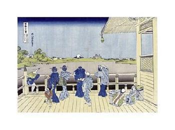 Katsushika Hokusai Sazai Hall Of Five - Hundred - Rakan Temple Giclee on Canvas