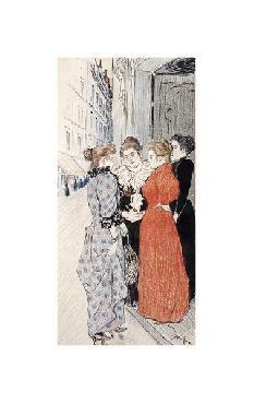 Theophile Alexandre Steinlen Women Conversing In The Street Giclee