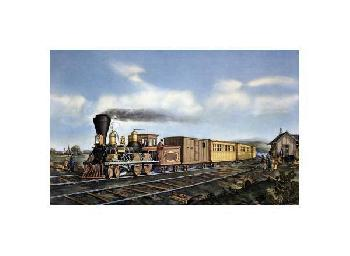 Currier and Ives American Express Train Giclee