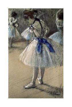 Edgar Degas Danseuse, Dancer, Pastel/char/chalk Giclee