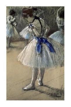 Edgar Degas Danseuse, Dancer, Pastel/char/chalk Giclee on Canvas