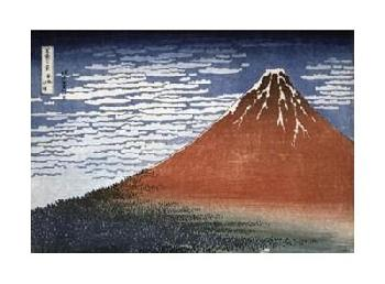 Katsushika Hokusai Fuji In Clear Weather Giclee on Canvas