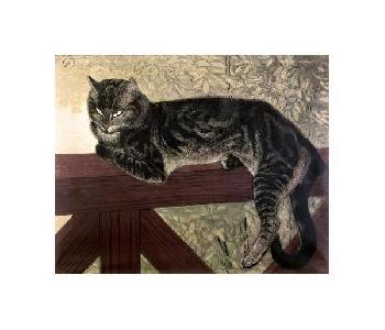 Theophile Alexandre Steinlen Cat On The Balustrade Giclee on Canvas