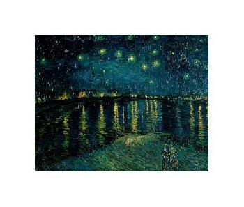 Vincent Van Gogh Starlight Over The Rhone Giclee