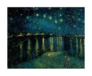 Vincent Van Gogh Starlight Over The Rhone Giclee on Canvas