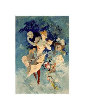 Jules Cheret Les Arts - La Comedie Giclee
