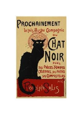 Theophile Alexandre Steinlen Chat Noir - Prochainement Giclee