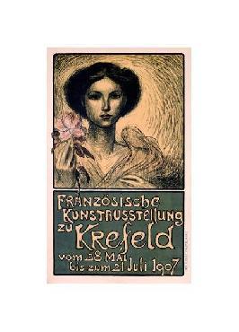 Theophile Alexandre Steinlen Franz�sische Kunstausstellung Zu Krefeld Giclee
