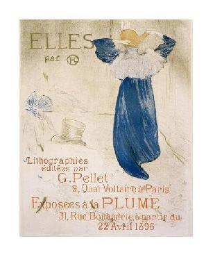 Henri De Toulouse-Lautrec Elles Giclee on Canvas