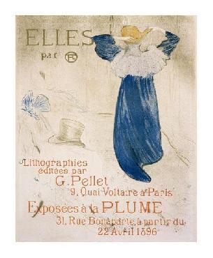 Henri De Toulouse-Lautrec Elles Giclee on Canvas