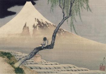 Katsushika Hokusai Boy VIewing Mount Fuji, 1839