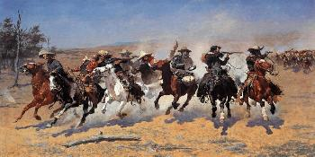 Frederic Remington A Dash For Timber