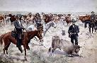 Frederic Remington Branding A Steer