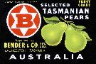 Anonymous Bender & Co. Selected Tasmanian Pears