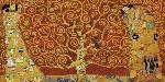 Gustav Klimt Tree Of Life Red Variation