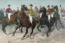 Currier and Ives Eager For The Race
