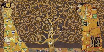 Gustav Klimt Tree Of Life (brown Variation) IV