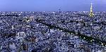 Michel Setboun Aerial VIew Of Paris At Dusk