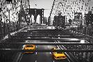 Anonymous Taxi On Brooklyn Bridge, Nyc