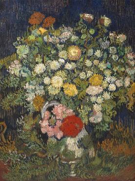 Vincent Van Gogh Bouquet Of Flowers In A Vase