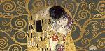 Gustav Klimt Kiss, Detail (grey Variation)