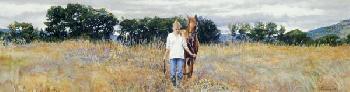 Steve Hanks Old Friends Giclee on Canvas