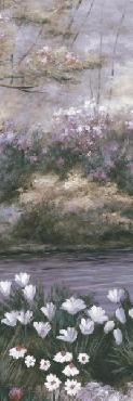Diane Romanello Blooming Isle Panel II Giclee on Canvas