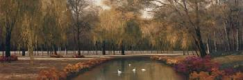 Diane Romanello Weeping Willow Panel Giclee on Canvas