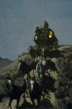 Frederic Remington Old Stage Coach Of The Plains Giclee on Canvas