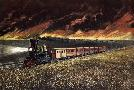 Currier and Ives Prairie Fires Of The Great West