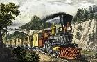 Currier and Ives Express Train