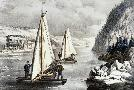 Currier and Ives Ice Boat Race On The Hudson