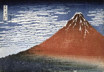 Katsushika Hokusai Fuji In Clear Weather Giclee on Canvas