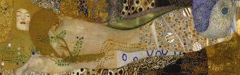 Gustav Klimt Sea Serpents I Giclee on Canvas