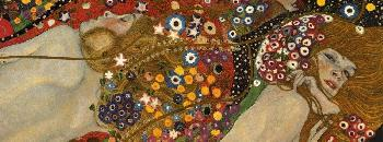 Gustav Klimt Sea Serpents VII Giclee on Canvas