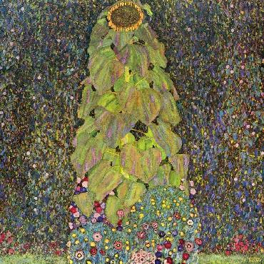 Gustav Klimt Sunflower Giclee on Canvas