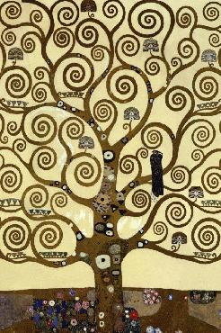 Gustav Klimt Tree Of Life Giclee on Canvas