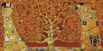Gustav Klimt Tree Of Life Red Variation Giclee on Canvas