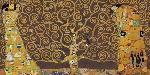 Gustav Klimt Tree Of Life (brown Variation) IV