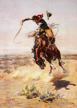 Charles Russell A Bad Hoss, 1904 Giclee on Canvas