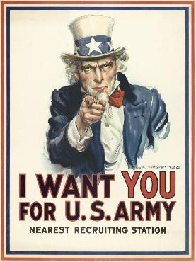 James Montgomery Flagg I Want You For U.s. Army, C. 1917 Giclee on Canvas