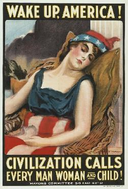 James Montgomery Flagg Wake Up America! Civilization Calls Every Man, Woman An Giclee on Canvas