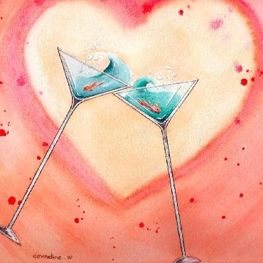 Emmeline Craig Cheers! Giclee on Canvas