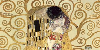 Gustav Klimt Kiss (detail) Giclee on Canvas