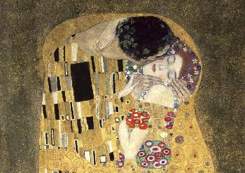 Gustav Klimt Kiss (detail) Giclee on Canvas