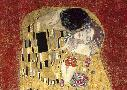 Gustav Klimt Kiss, Detail (red Variation)